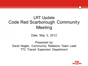 Presentation by David Nagler of TTC (PDF)